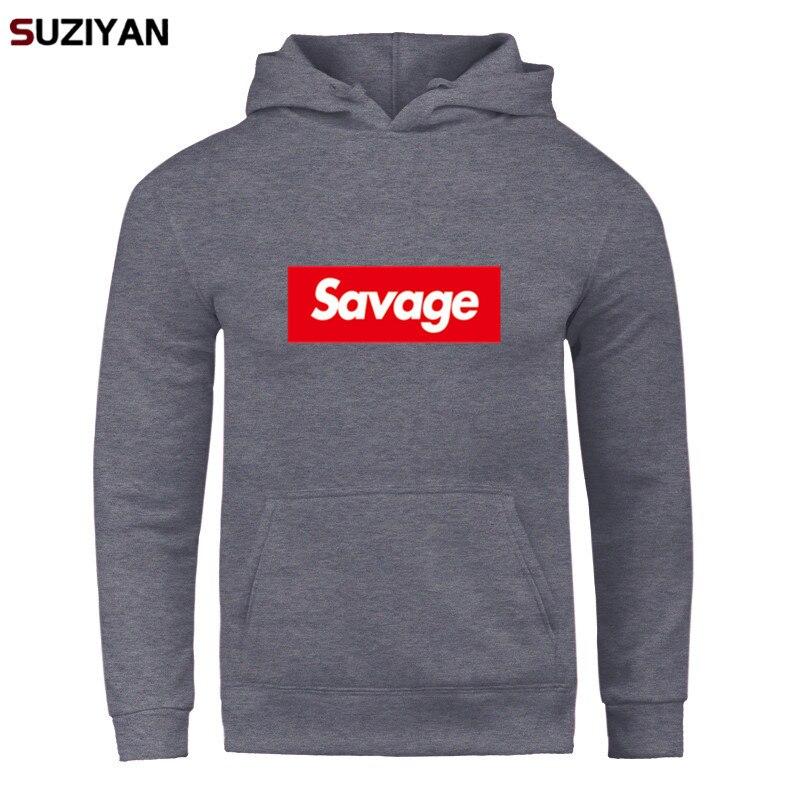 2019 New Mens Hoodies Printed Savage Hoodies Parody No Heart X Savage Mode Long Sleeved Streetwear Suprem Harajuku Tops Pullover