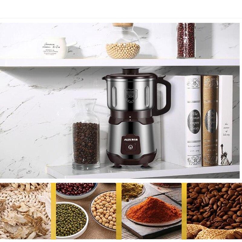 220 v 500 w Huishoudelijke Elektrische Molen Mini Droog Slijpen Kruid Koffie Graan Kruiden Slijpmachine Poeder Molen EU/ AU/UK