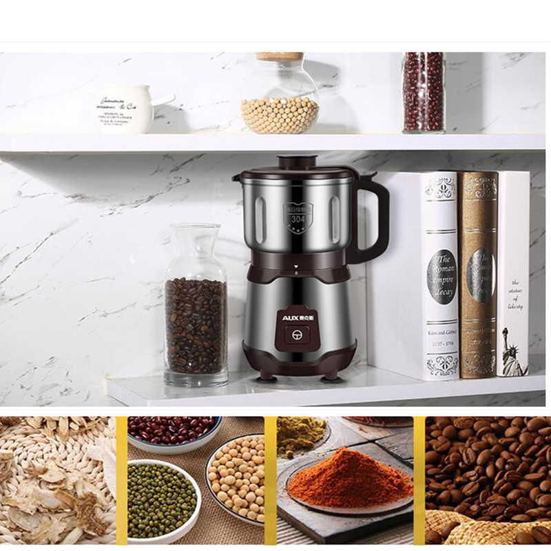 220V 500W Household Electric Grinder Mini Dry Grinding Herb Coffee Grain Seasoning Grinding Machine Powder Grinder EU/AU/UK electric household grinder grinder grinding machine coffee machine coffee grinder corn herbal medicine dry grinding