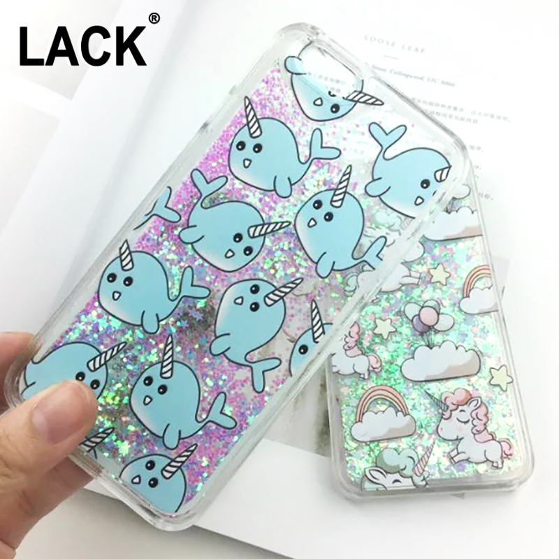 cheap for discount 8bfc7 3ff8a US $2.69 |Cute Cartoon Unicorn Case For iPhone 6 6S Dynamic Glitter Stars  Dynamic Liquid Cartoon Phone Cases Cover For iphone 6S 6 / Plus-in ...