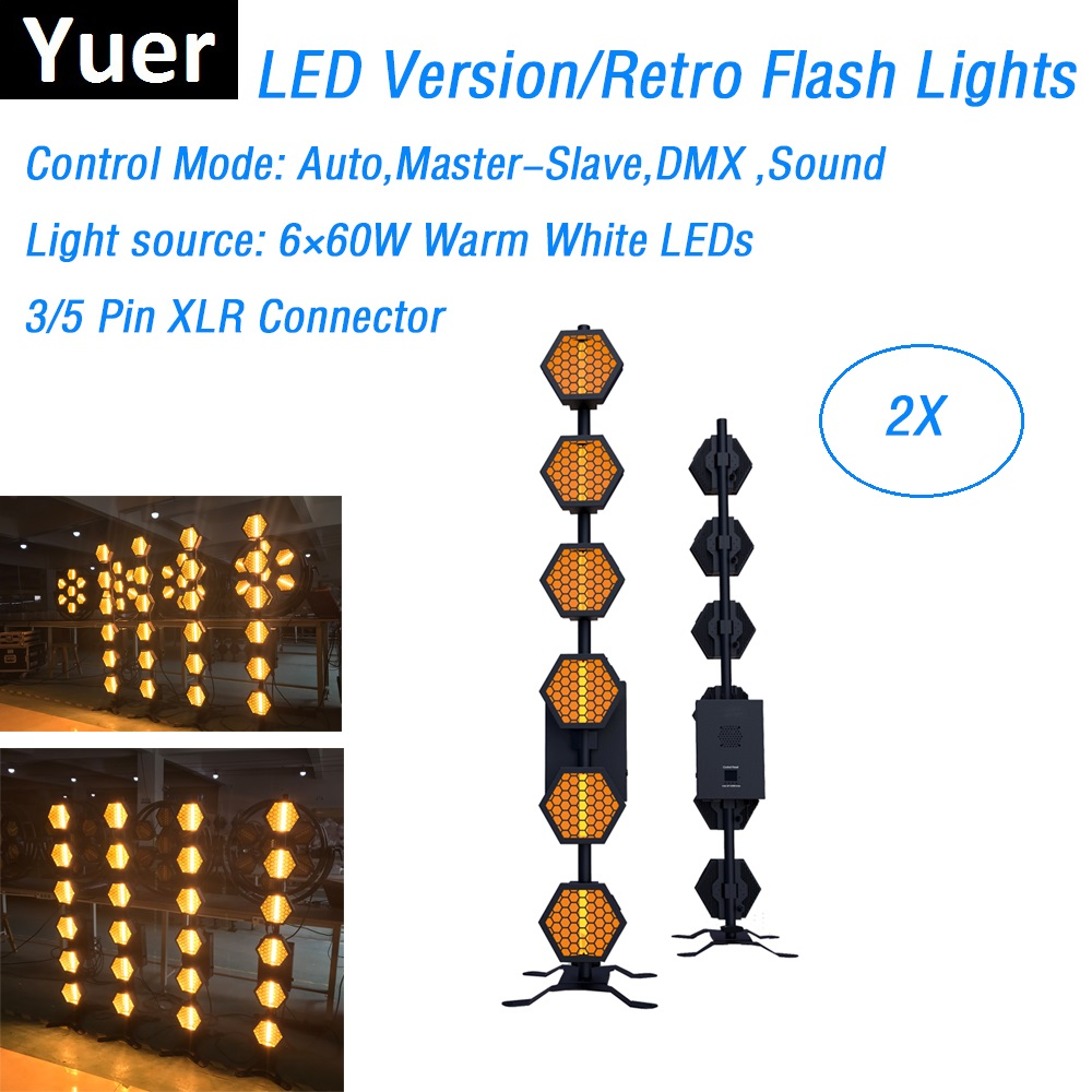 LED Retro Flash Lights High Power 6X60W Six-Line Hexa Pixel Lights Wedding Holiday Stage Wash Lighting Effect Dj Laser Projector image