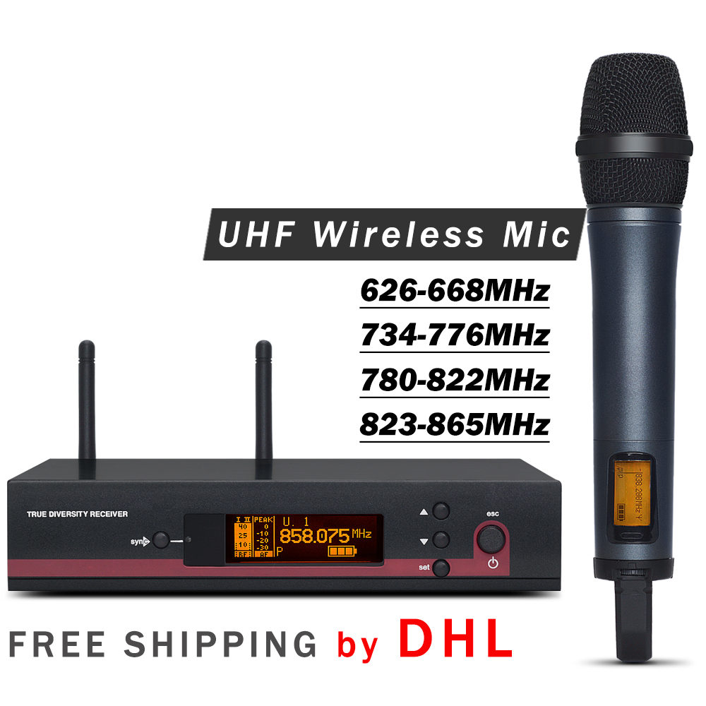 FREE SHIPPING BY DHL TWO COLOR Professional 135 G3 UHF Wireless Single Handheld Microphone System with