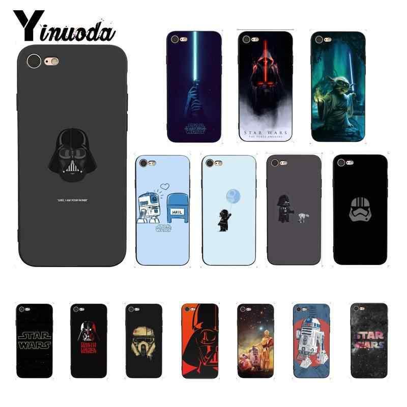 Yinuoda Удивительная Мода Звездные войны чехол черный мягкий для телефона iPhone 8 7 6 6S