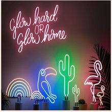 Неоновый светодиодный ночсветильник настольная лампа с фламинго