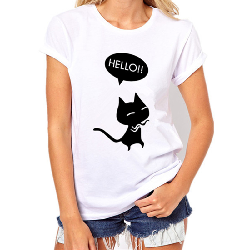 Womens Funny Cat T-Shirt