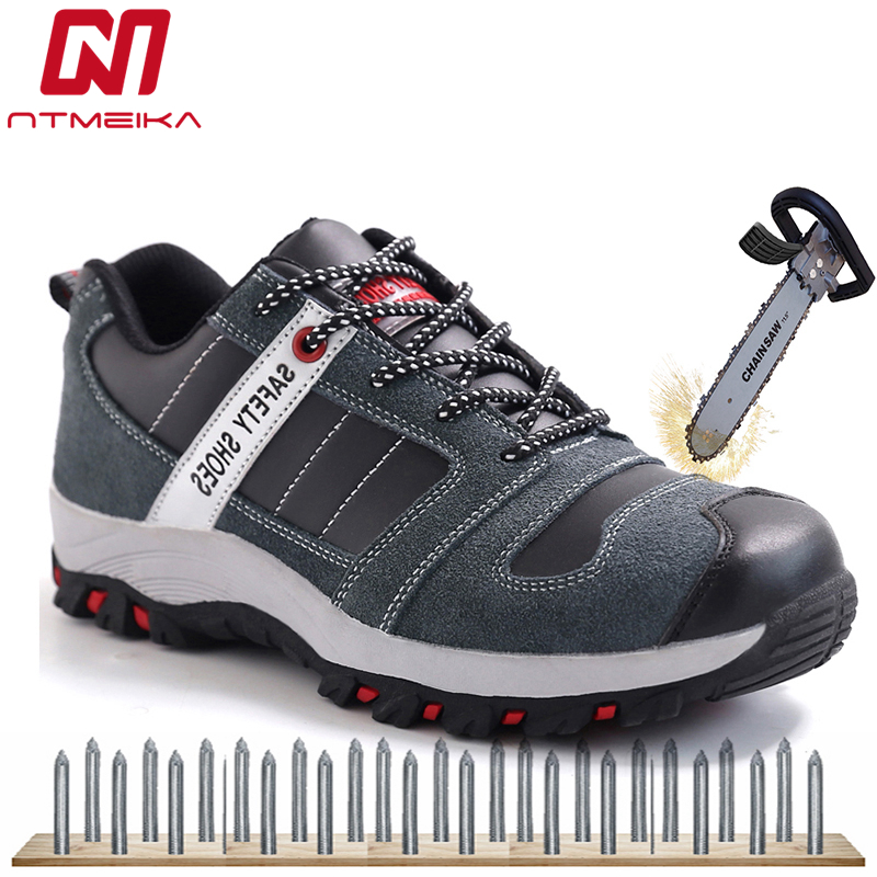 Men Fashion Work Safety Shoes Steel Toe Cow Leather Combat Boots Breathable Casual Safety Boots Men Lace Up Protective ShoesMen Fashion Work Safety Shoes Steel Toe Cow Leather Combat Boots Breathable Casual Safety Boots Men Lace Up Protective Shoes