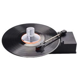Lp vinil record player balanceado metal disco estabilizador de peso braçadeira turntable alta fidelidade
