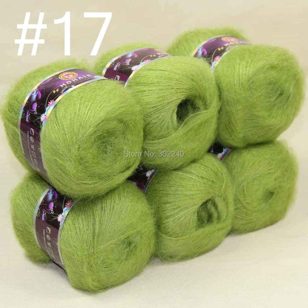 Sale 6 balls MOHAIR 50/% Angora Cashmere 50/% silk hand Yarn Knitting dark red 10