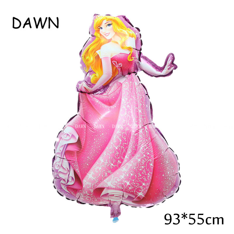Large Belle Cinderella Princess Snow White Balloons For Baby Birthday Party Decoration 2