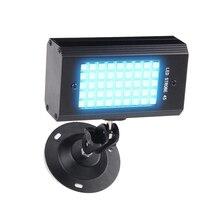 RGB 7 색 45 LED 스트로브 라이트 스트로보 스코프 DJ 디스코 사운드 활성화 프로젝터 플래시 무대 조명 효과 램프 파티 라이트