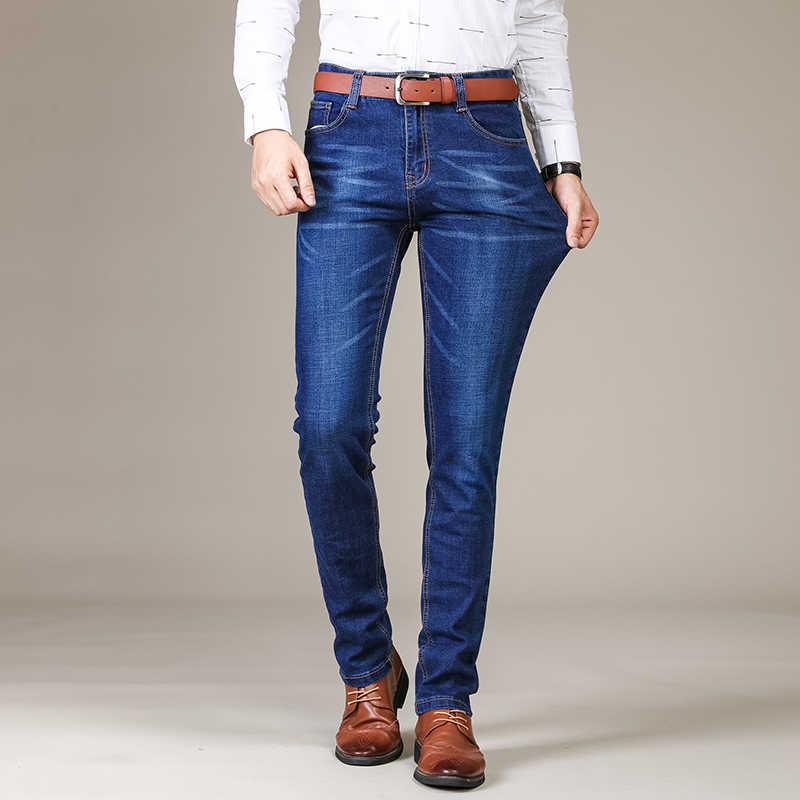 SULEE ブランド 2019 新メンズスリム弾性ジーンズファッションビジネスクラシックスタイルスキニージーンズデニムパンツズボン男性