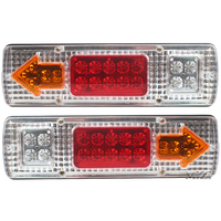 2pcs Lot Car Van Truck Lorry Trailer Led Tail Lights LED Rear Turn Signal Stop Rear