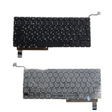 Pocket book Pc Replacements Keyboards Match For Apple Macbook A1286 English Russian Commonplace Replacements Keyboards VCZ17 T50