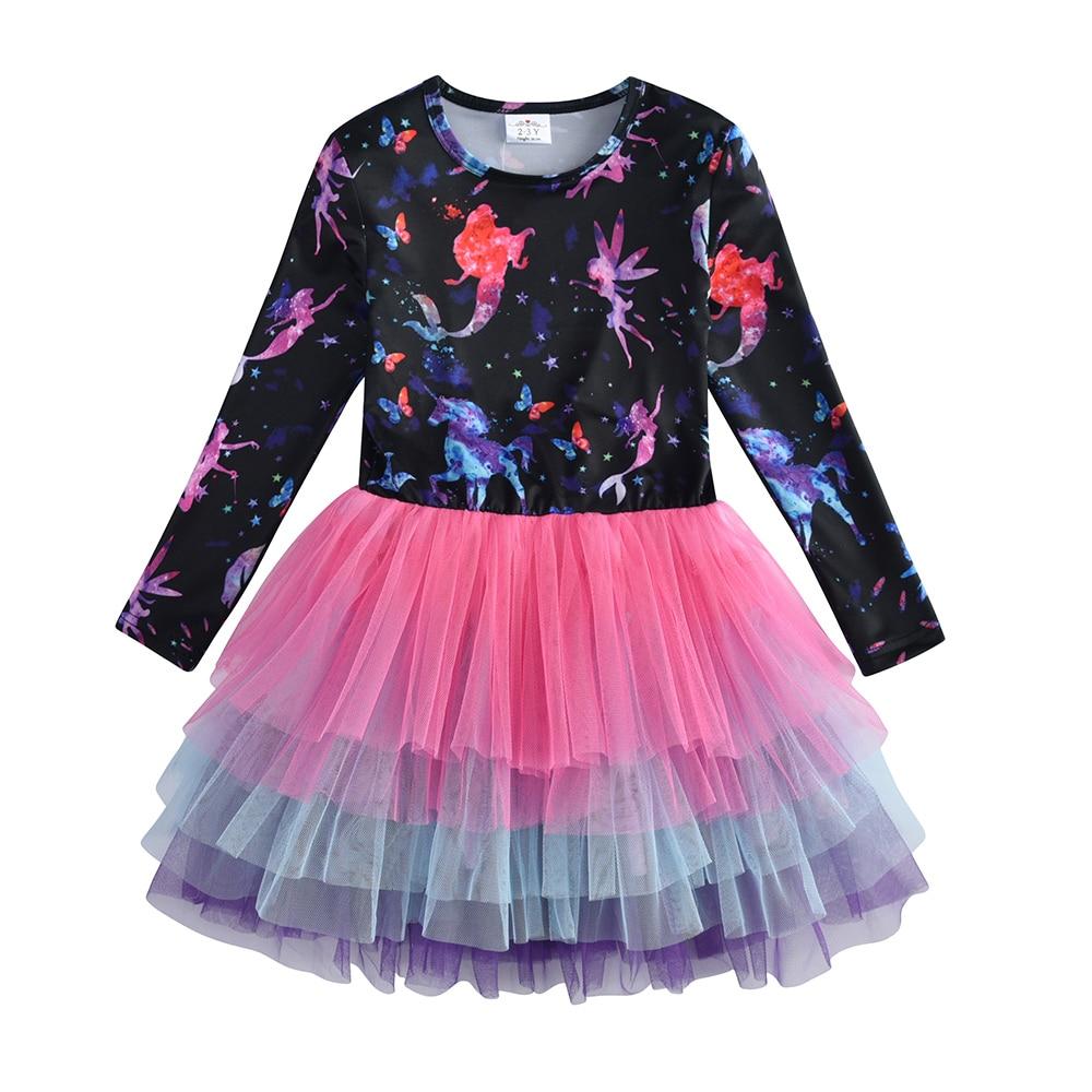 HTB1Z3NkQpzqK1RjSZFoq6zfcXXaw VIKITA Girls Dress Long Sleeve Kids Flower Dresses Children Unicorn Vestidos 2019 Girls Dresses Autumn Kids Dress For Girl
