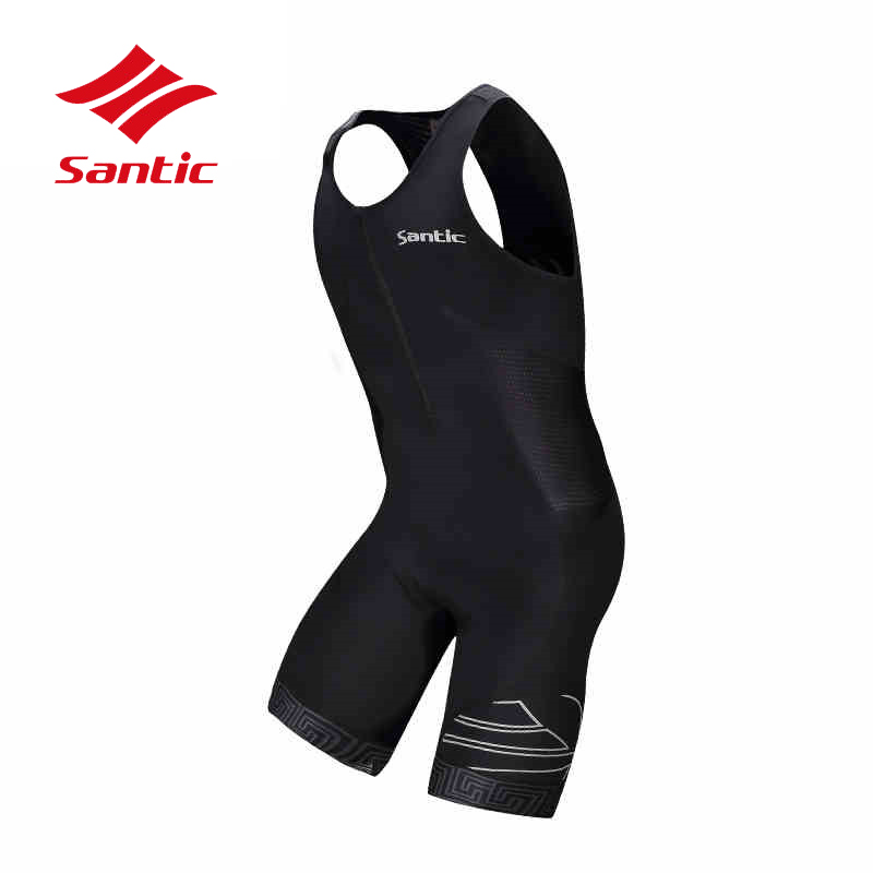Santic Cycling Jersey Men Triathlon 2018 Pro Sleeveless Bike Bicycle Clothes Riding Downhill Clothing MTB Road Maillot Ciclismo santic black triathlon clothing men
