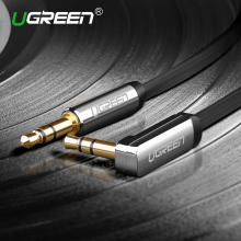 Ugreen AUX cable 3.5mm audio cable 90 degree right angle flat jack 3.5 mm for car  iPhone headphone beats speaker aux cord MP3/4