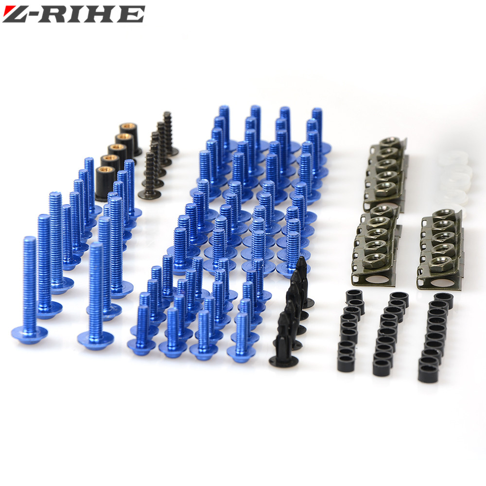Motorcycle Fairing Body Bolts Needle Speed Clips Screw Fasteners Spring Bolts Nuts For Yamaha Tmax MT07 MT09 FZ1 FZ6 FZ8 R1 R6 20x 6mm motorcycle accessories fairing body work bolts for yamaha mt 09 mt09 07 sj6n xj6 fz6 sj6s fz6s fz6 fazer tmax 530 500
