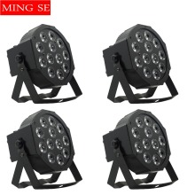 цена на 4pcs/lots 12w led  lamp beads 12x12W led Par lights RGBW 4in1 flat par led dmx512 disco lights professional stage dj equipment