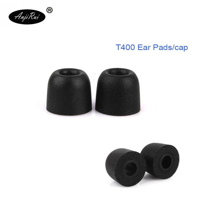4 pcs/2 pairs. ANJIRUI T400 black M Caliber Ear Pads/cap 4.9mm memory foam eartips for in-ear earphone tips sponge Ear cotton