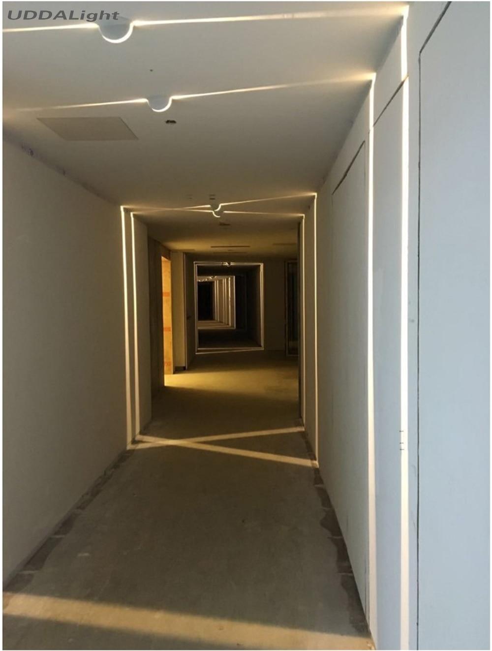 projeto de construcao estreita linha janela lampadas parede 10w luzes de parede para casa ressessed em