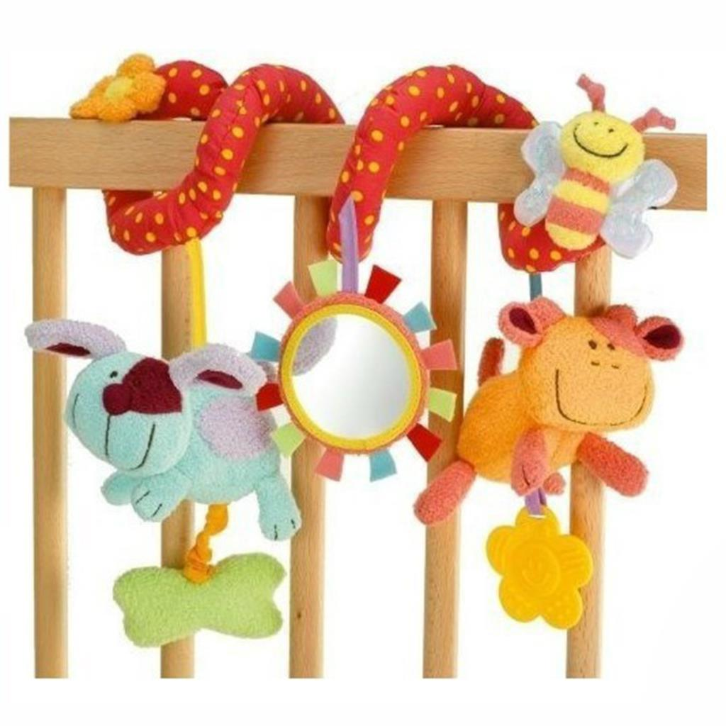 Crib activity toys for babies - New Baby Cot Spiral Activity Hanging Decoration Baby Toys Cot Car Seat Pram Xmas Gifts Baby