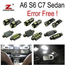 16 шт. X canbus Error Free светодиодные лампы внутреннего освещения верхнее освещение комплект посылка для Audi A6 S6 RS6 C7 седан(2012