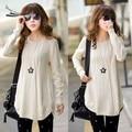 Freeshipping 2015 Warm Autumn Women's Long Sleeve Loose Slim Sweater Outerwear Female Basic Sweater