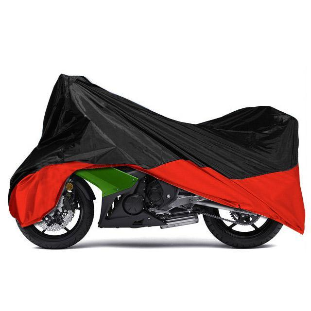Motorcycle Cover XXL Large Size 265*105*125cm Black Red Rain Dust Protector Outdoor Motorbike Cover for Cruiser Touring Scooter