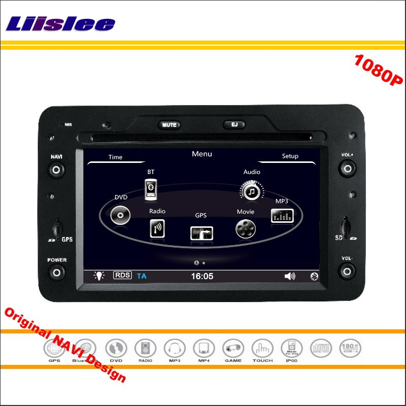 Liislee For Alfa Romeo 159 2005 Car Stereo Radio CD DVD Player GPS Navi Navigation 1080P HD Screen System Original NAVI Design