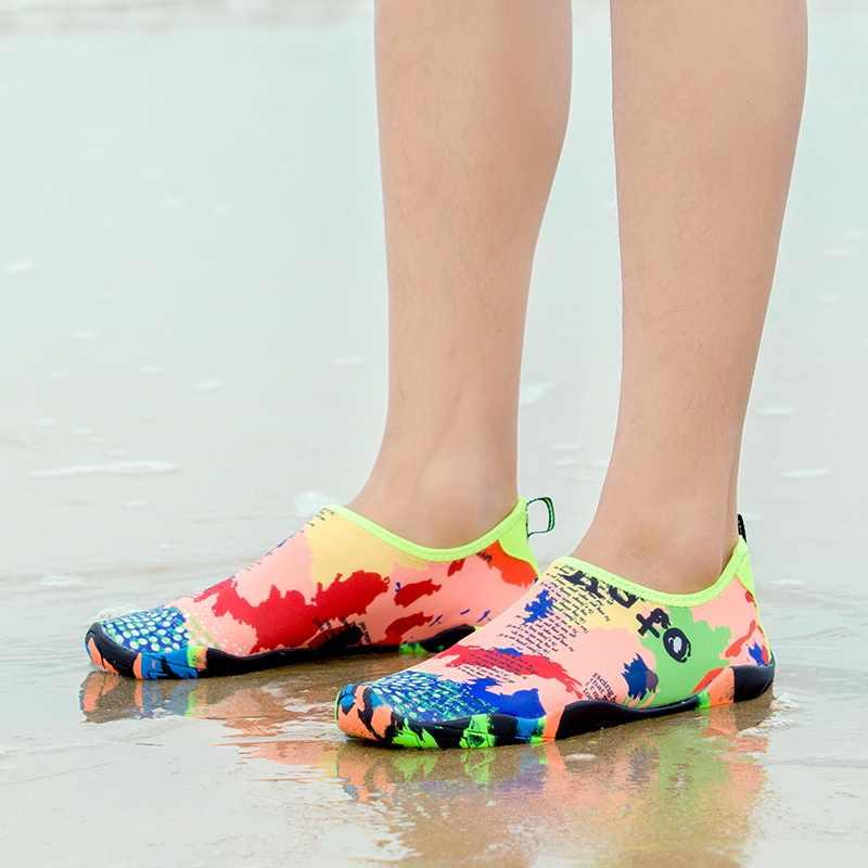 Zapatillas Unisex de playa, zapatos de agua para nadar, zapatillas de deporte para hombres y mujeres, zapatillas de buceo descalzo, zapatillas de agua para zapatos para la playa