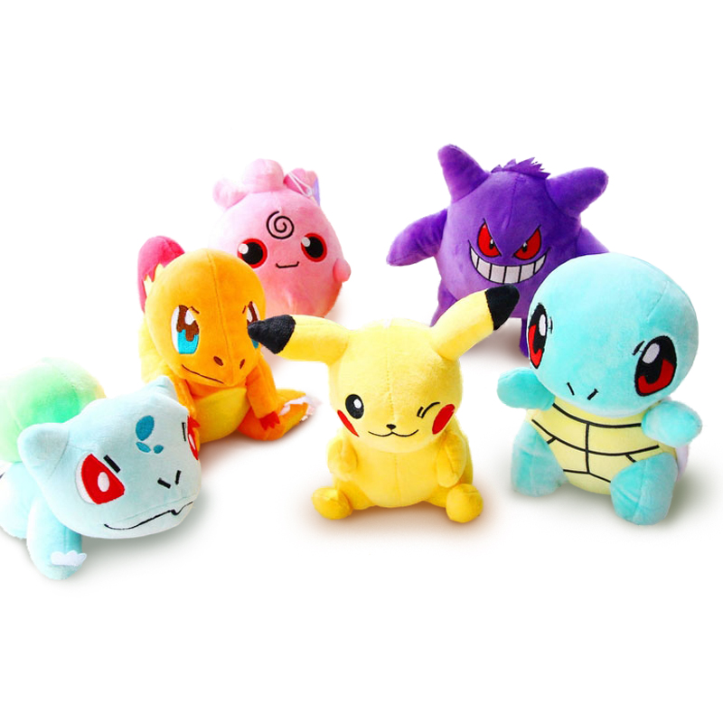 20cm Pikachu Plush kids Toys for Snorlax/Bulbasaur/Charmander/Squirtle Stuffed dolls 5pcs lot pikachu plush toys 14cm pokemon go pikachu plush toy doll soft stuffed animals toys brinquedos gifts for kids children