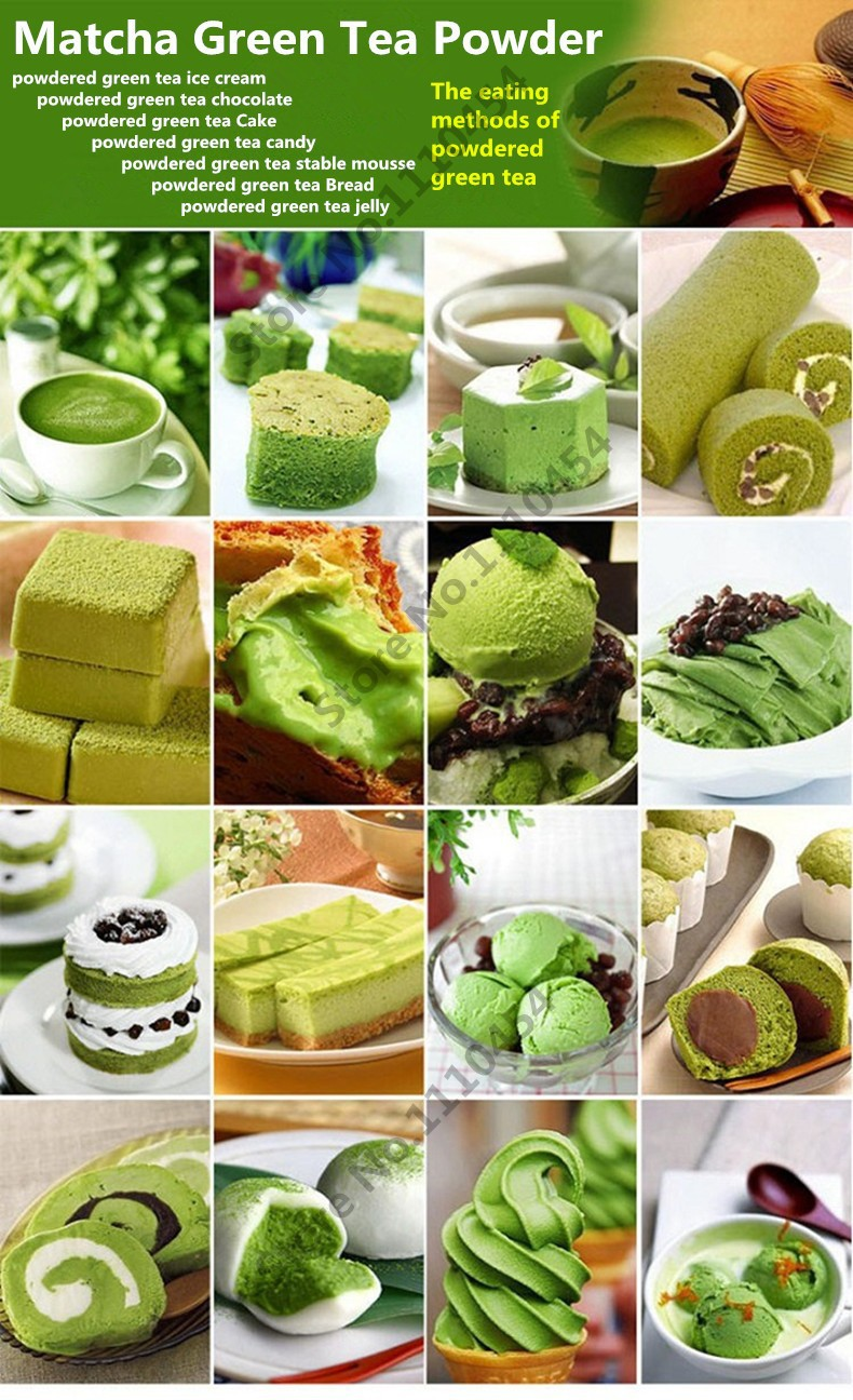 Premium 250g China Matcha Green Tea Powder 100% Natural Organic Slimming Matcha Tea Weight Loss Food Powder Green Tea