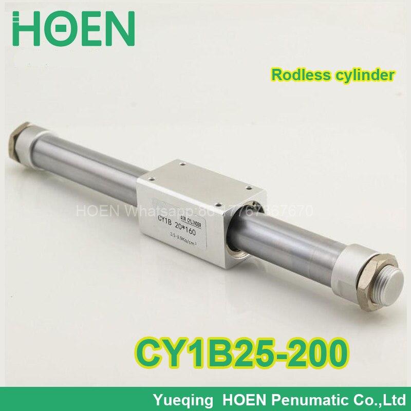 CY1B25-200 CY3B25-200 SMC type Rodless cylinder 25mm bore 200mm stroke high pressure cylinder CY1B CY3B series