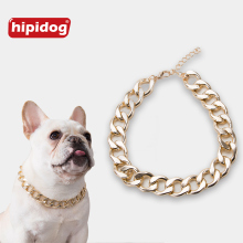 Hipidog Pet Adjustable Collars Fashion Necklace Dog Accessories for Small French Bulldog Schnauzer Supplies Decoration