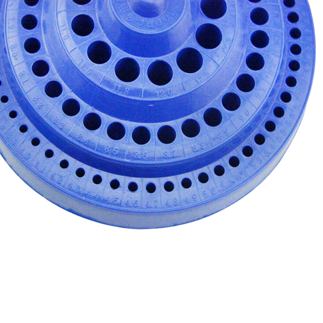 Купить с кэшбэком Hot 1pcs Round Shape Plastic Hard 100pcs 1-13mm Drill Bit Storage Case Blue