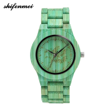 2019 new fashion bamboo hand-made natural fresh hand neutral womens wooden watch