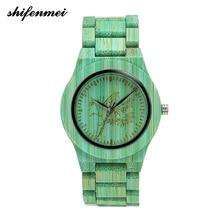 цена 2019 new fashion bamboo hand-made natural fresh hand neutral fashion women's wooden watch онлайн в 2017 году