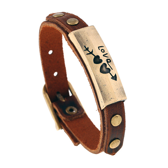 Men Women Unisex Vintage Adjustable Leather Bracelet