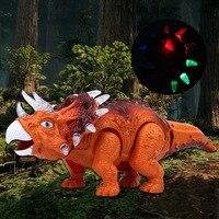 Electronic Flashing Dinosaur Model For Chrismas Gift Sounding Moving Electronic Dinosaur Toys Cool Animals Toys