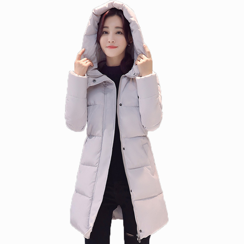 2017 New Women Winter Jackets Wadded Parkas Long Overcoat Slim Warm Cotton Coats Outwear Hooded Winter Female Jackets FP0013 new 2017 winter hooded jacket women cotton wadded overcoat medium long slim casual fashion parkas female denim blue coats cm1509