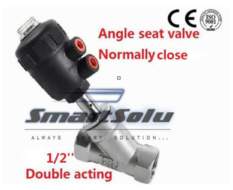 Free shippingactuator plastic angle seat valve normally close DN15 1/2 thread double acting high temperature ss304 body valve free shipping pneumatic actuators plastic angle seat valve dn25 1 inch normally close double acting high temperature valve