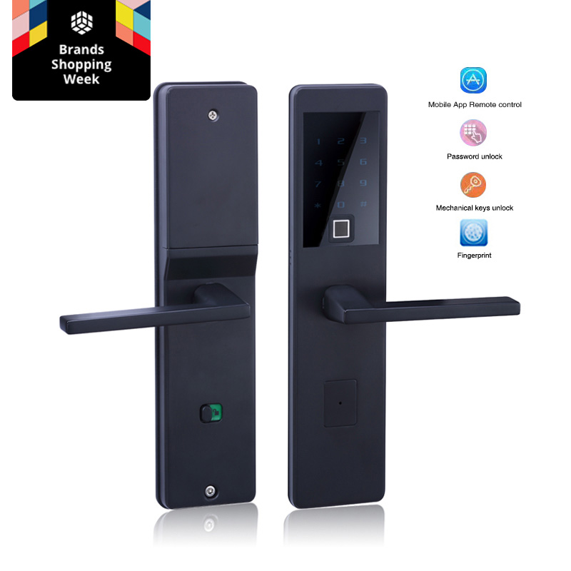 One for Five Electronic Door Lock with Wifi Bluetooth Biometric Digital Smart Fingerprint Electronic Lock For Outdoor Entry Door one for five electronic door lock bluetooth biometric smart fingerprint electronic lock for outdoor entry door