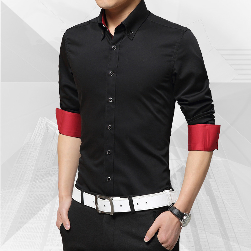 Nice Spring Autumn Nice Style For Men Father Solid Color Button