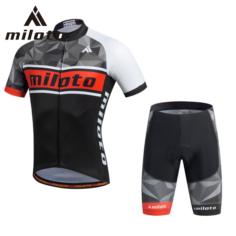 ⑦Miloto Ciclismo Jersey sets ropa ciclismo hombre MTB bicicleta ...