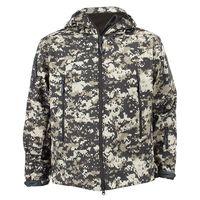Men Outdoor Jacket Waterproof Coat Shark Skin Soft Shell Hoodie Hunting Duty ACU 2XL