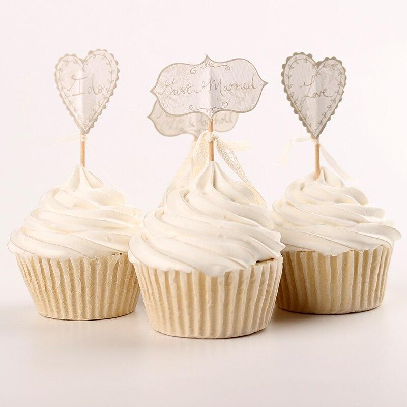 Wedding Cupcake Toppers Picks Bridal Akersart