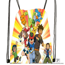 Custom Pokemon Drawstring Backpack Bag Cute Daypack Kids Satchel (Black Back) 31x40cm#180531-03-73