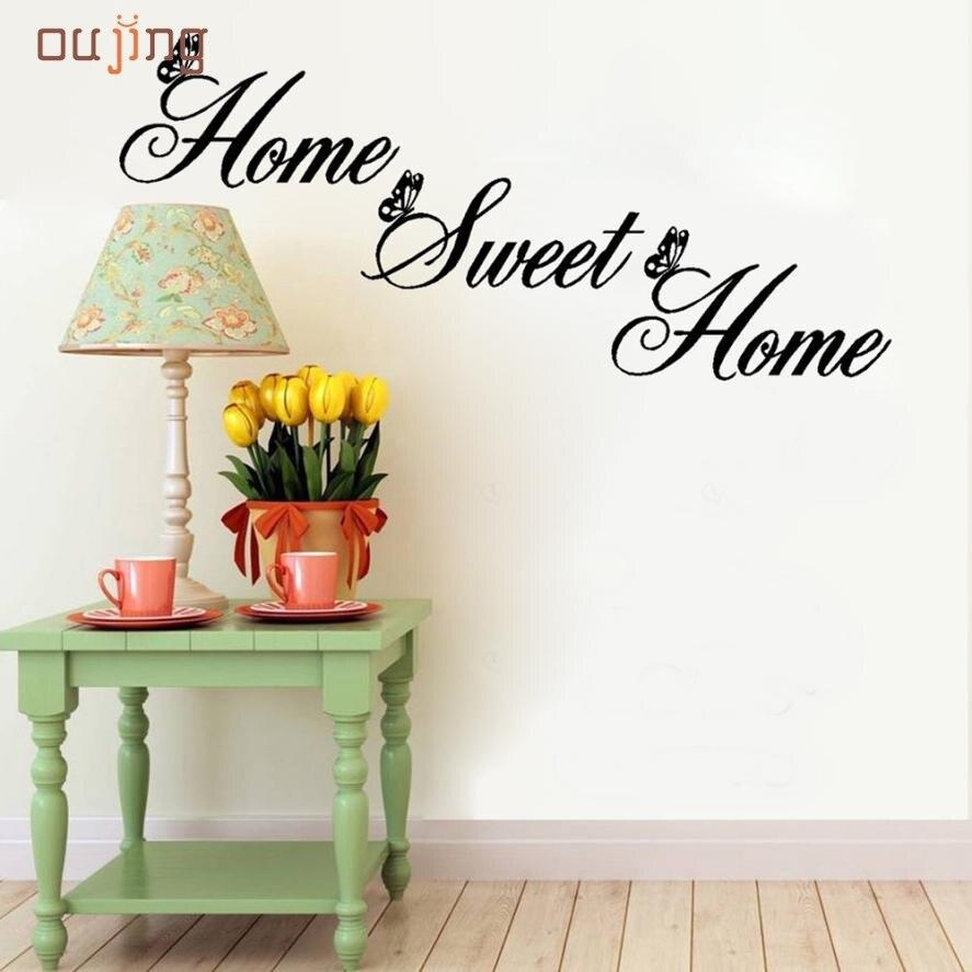 Ju 27 mosunx negocio  venta caliente home sweet home decor pared pegatinas diy d