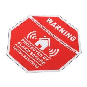 Image 3 - 5 sztuk Home House Alarm naklejki bezpieczeństwa/naklejki znaki dla Windows i drzwi nowość