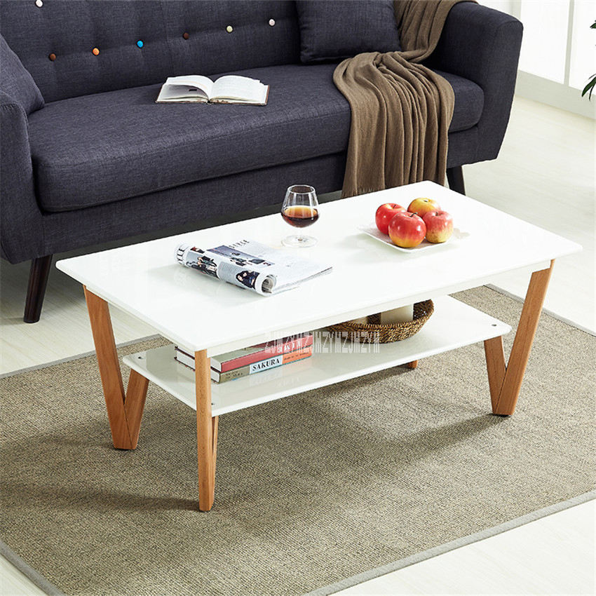 HZY-CJ-0040 Home Furniture Coffee Table Living Room Creative Side Table Modern Simple Anti-Skid End Table Solid Wood Leg Teapoy